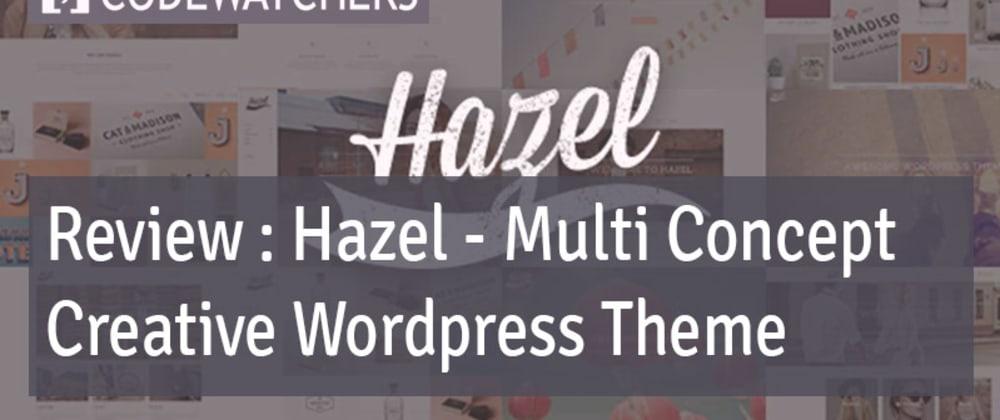 Revisão: Hazel - Tema Criativo para WordPress de Conceito Múltiplo