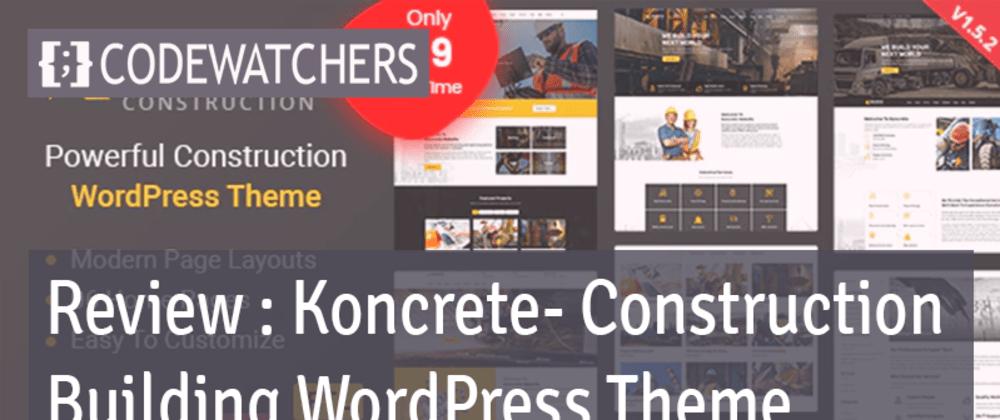 Koncrete - Temi WordPress per l'edilizia