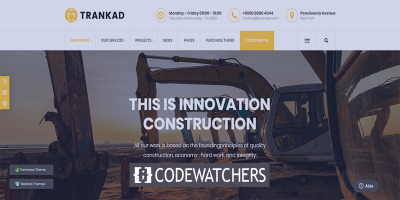 Review: Trankad - Construction WordPress Theme