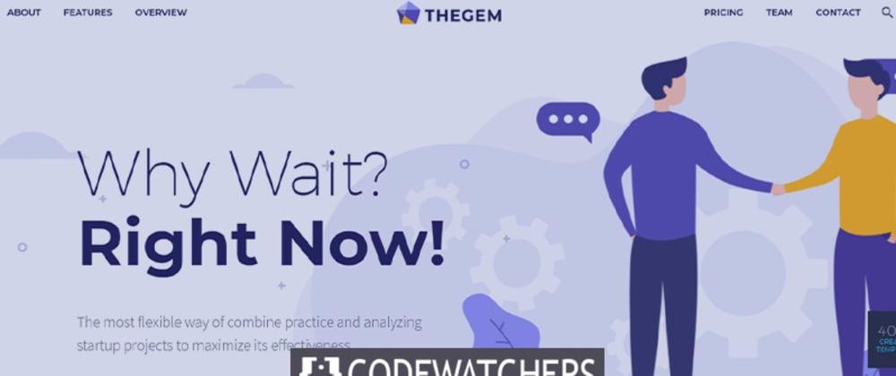 Обзор: TheGem - креативная многоцелевая тема WordPress