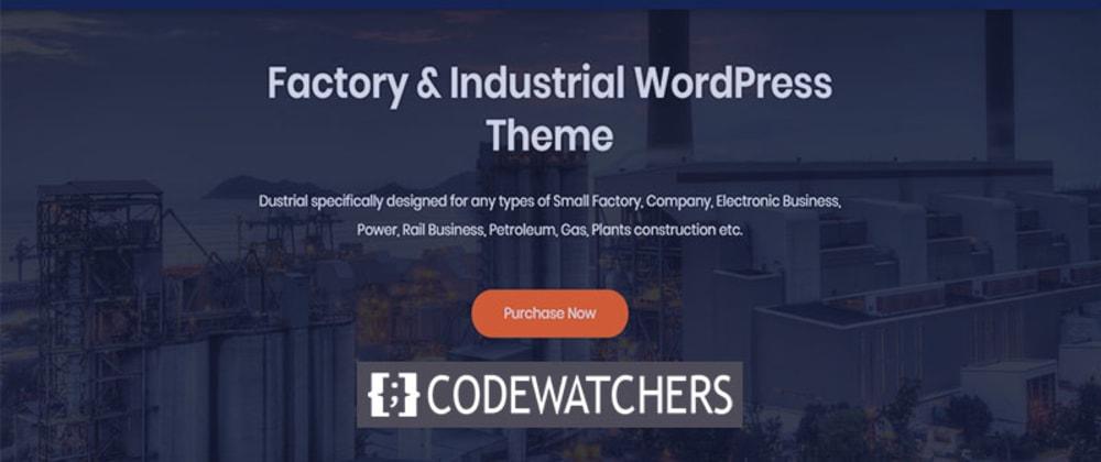 Review: Dustrial - Thème WordPress d'usine et industriel
