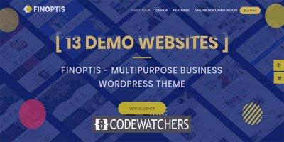 Review: Finoptis – Multipurpose Business WordPress Theme