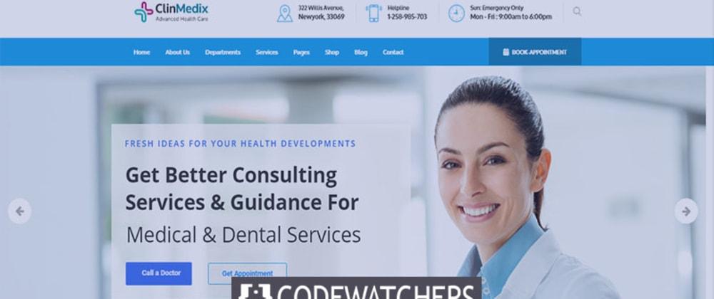 Revisión: Clinmedix - Tema de WordPress sobre salud y medicina
