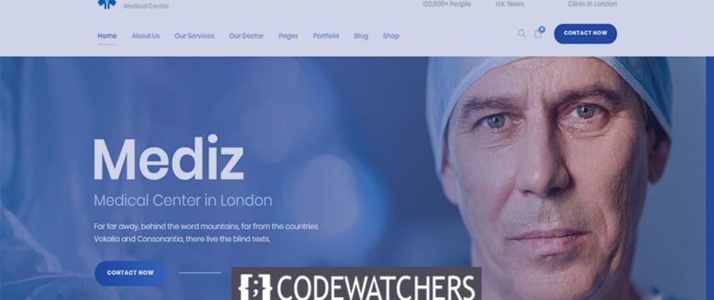 Critique: Mediz - Medical WordPress