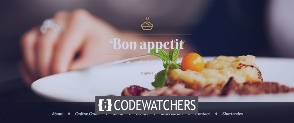 Обзор: Приятного аппетита - тема заказа еды WordPress для ресторана