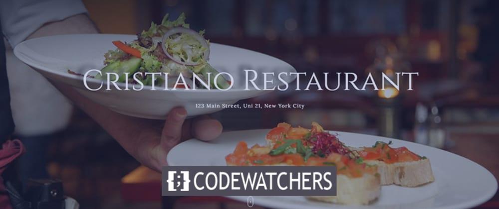 İnceleme: Cristiano - Restoran WordPress Teması