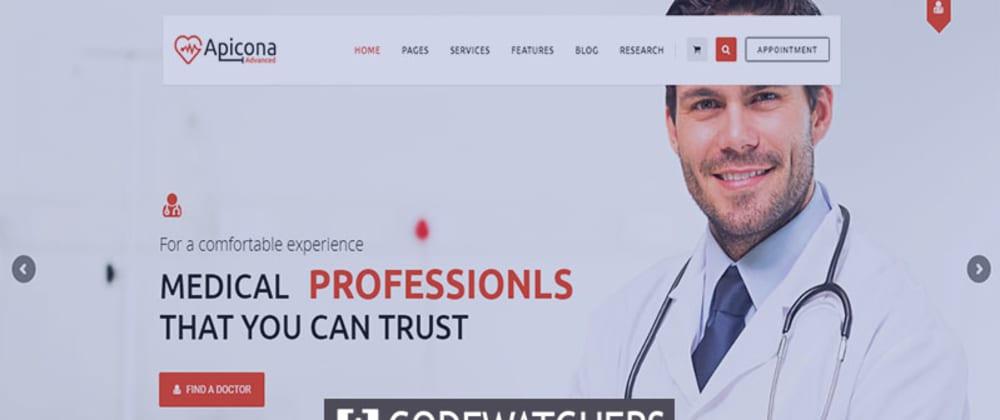 Revisión: Apicona - Tema médico de WordPress