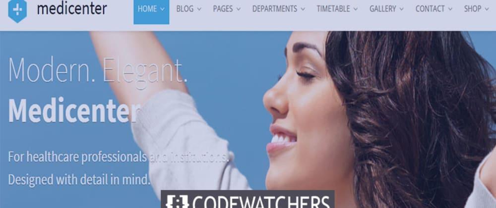 Revisión: MediCenter - Tema médico de WordPress