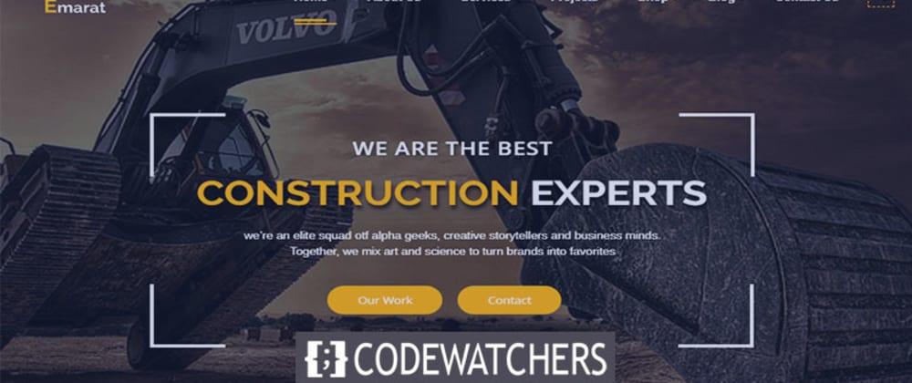 Critique: Emarat - Thème WordPress Construction