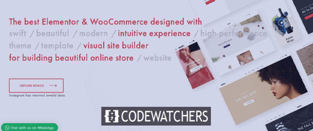 Revisión: Anon - Temas multipropósito Elementor WooCommerce
