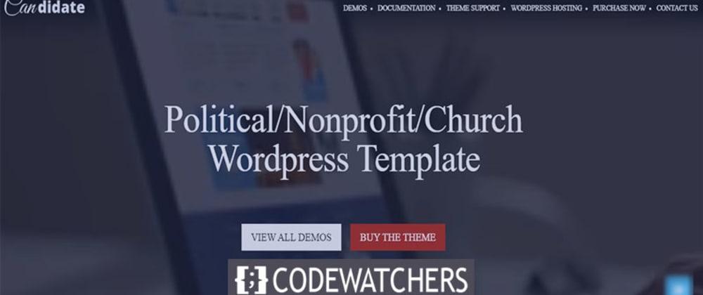 Critique: Candidat - Thème WordPress politique / à but non lucratif