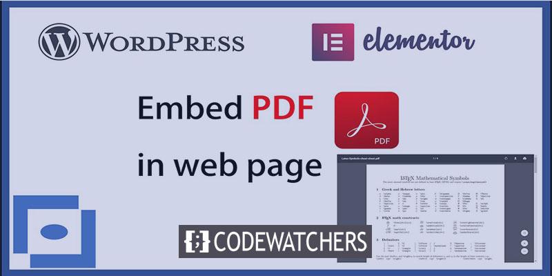 Como incorporar um arquivo PDF em seu blog WordPress com Elementor
