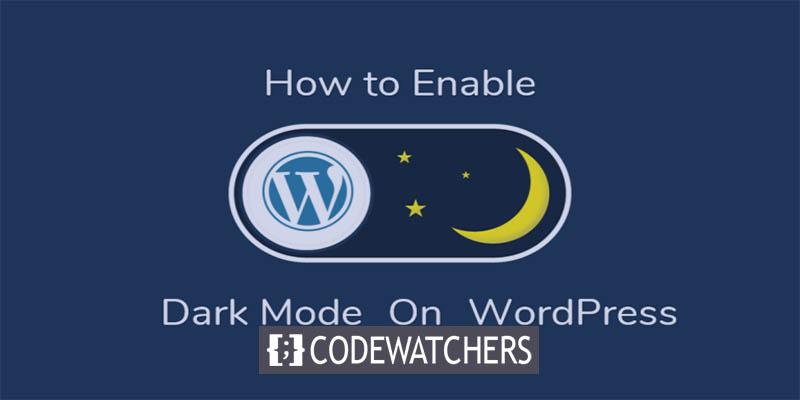 Как активировать темный режим на вашем сайте WordPress
